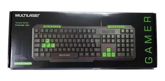 Teclado Multimídia Keyboard Com Teclas De Destaque Gamer