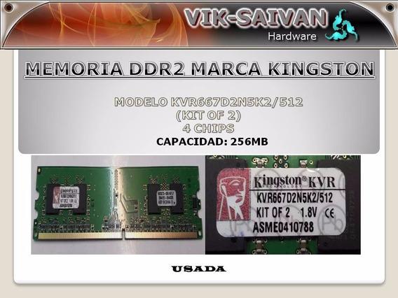 Memoria Ddr2 Kingston De 256mb Pc2-5300 667mhz 4 Chips 19