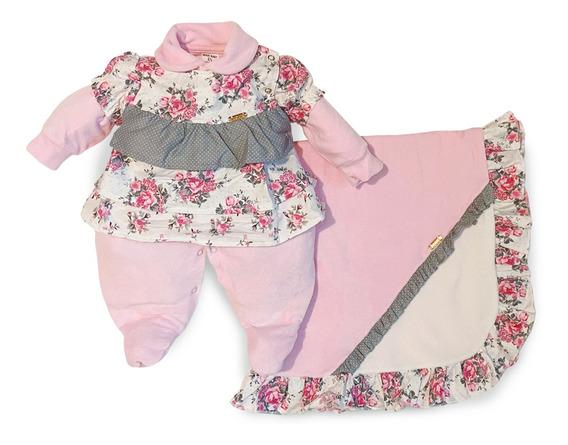 Saída Maternidade Menina Rosa Floral - Maxibaby