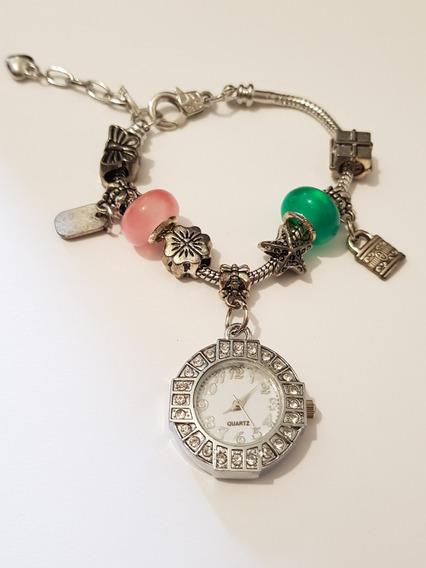 Reloj Con 8 Charms Estuche Y Envio Gratis