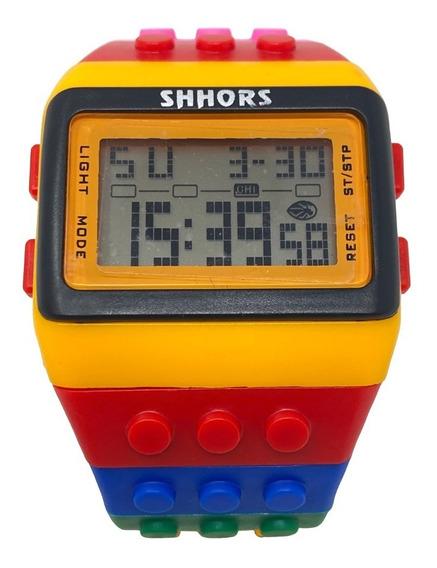 Reloj Digital Tipo Lego