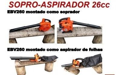 Soprador Sopro Aspirador Triturador Folha Bandai 26cc Gasoli