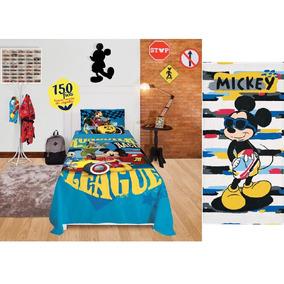 bb21c452d1 Lençol Mickey Mouse - Roupa de Cama no Mercado Livre Brasil