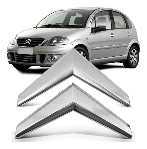Par Emblema Grade Radiador Citroen C3 2009 2010 2011 2012