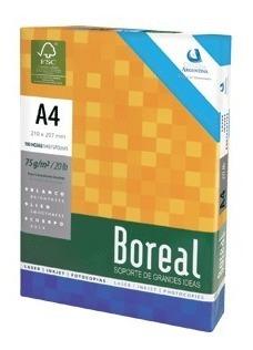 Resma A4 Boreal 75 Grs X 500h Consulte X Envío Gratis
