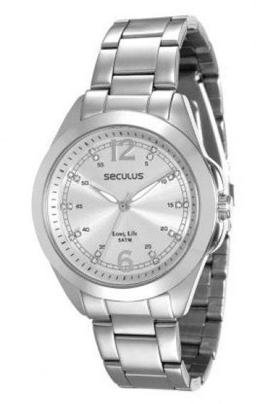 Relógio Seculus Analógico Feminino Prateado 28737l0svna2