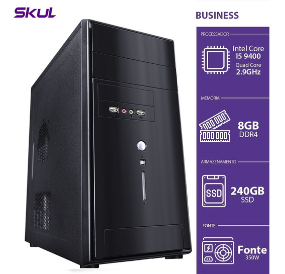 Computador Business B500 - I5-9400 2.9ghz 8gb Ddr4 Ssd 240 H