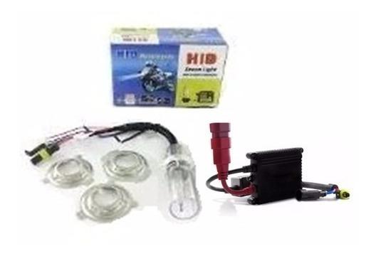 Kit Bixenon Moto H6 H6-3 6000k 8000k Reator Slim Hid Biz