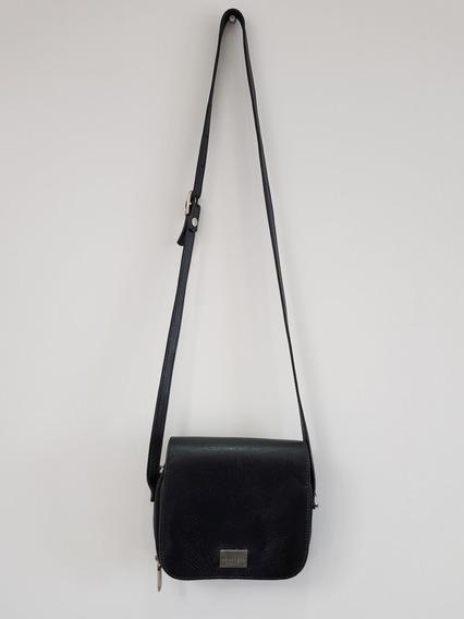 Bolsa Smart Bag Preta Em Couro Divisorias - Original