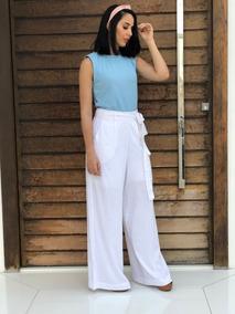 Conjunto Feminino Blusinha E Calça Pantalona Lancamento