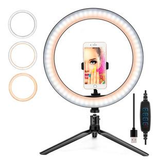 Aro De Luz Led 3 Colores 30 Cm Ring Anillo Maquillaje Selfie