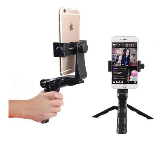 Suporte Celular Tripé Bastão Mão Selfie Rotativo 360 Graus