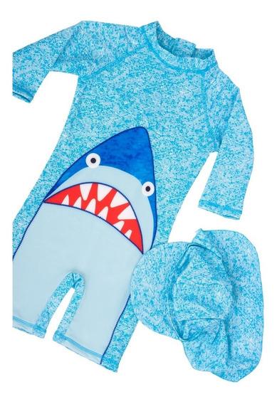 Traje De Baño Niños 2 Pz Tiburón * Envio Gratis *