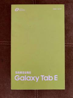 Samsung Galaxy Tab E , 9.6 Pulgadas, 8g, Color Blanco