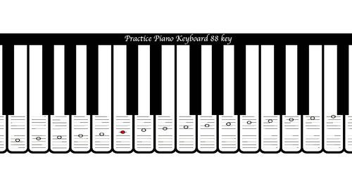 Plantilla Para Piano-teclado 88 Notas Pentagrama En 2 Claves