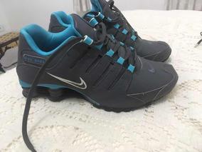 Tênis Nikeshox Cinza Azul Bebê