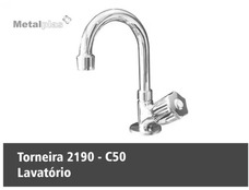 Torneira Metal C-50 Metalplast Bancada E Mesa