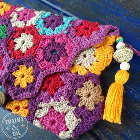 Bolsas Clutch Crochê Artesanal Coloridas