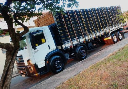 Imagem 1 de 6 de Vw 24280 Bitruck Carroceria De Madeira 9,60m 2012