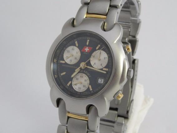 Relógio Swiss Army Dhc+ Masculino - Série Ouro - Novo