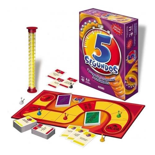 Imagen 1 de 3 de Juego De Mesa 5 Segundos Popular Toyco Preguntas Respuestas