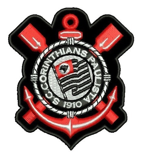Patch Bordado Corinthians Escudo Tag Termo Colante 8 Cm.