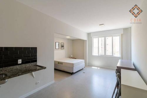 Apartamento Com 1 Dormitório À Venda, 30 M² Por R$ 380.000,00 - Santa Cecília - São Paulo/sp - Ap30518
