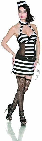Disfraz Mujer Sexy Convicto Delicious Halloween Adulto M