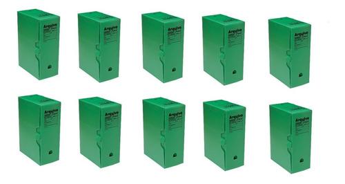 Arquivo Morto Plastico Verde 335x133x252 Kit C/10 Polibras