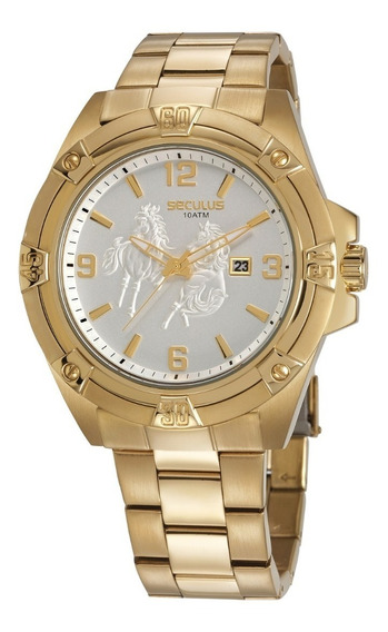 Relógio Seculus Masculino 20733gpsvda1