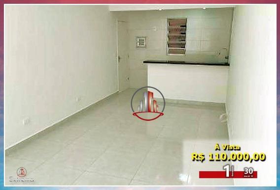 Kitnet Com 1 Dormitório À Venda, 30 M² Por R$ 110.000,00 - Aviação - Praia Grande/sp - Kn0180