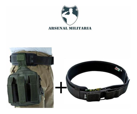 Kit Cinto Tático Operacional + Bornal Porta Faca Foxboy A847