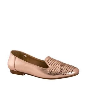 Balerinas Casuales Pink 4226 Oro Rosado De Piso Para Dama