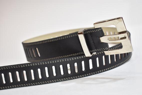 Cinturón Dama Cuero Vacuno Calado Completo 40mm