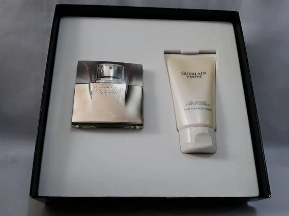 Perfume Guerlain Homme Edt (vintage) 50ml + Shower Gel 75ml