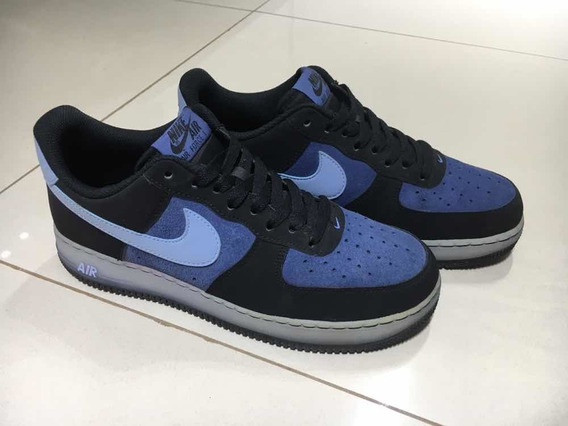 Zapatillas Nike Air Force 1 Black/blue Usadas!