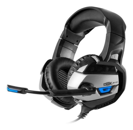 Headset Usb 7.1 Led Com Controle De Luz Microfone E Audio
