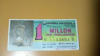 Billete De La Loteria Nacional Por Un Millon De Dolares