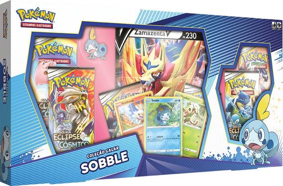 Box Pokémon Sobble Zacian Coleção Galar Cards Espada Escudo
