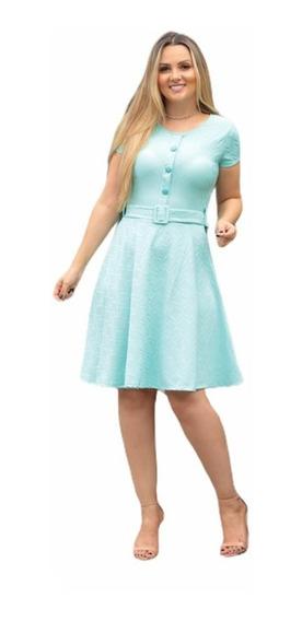 Vestido Feminino Evangélico Midi Gode Social Rodado Promoção