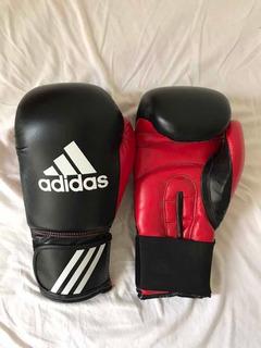 Luva Boxe adidas Response Glove 14oz Preta/vermelha (leia)
