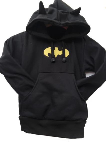 Buzo Con Capota Batman Orejas Niños
