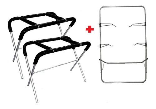 2 Cavaletes De Preparação + 1 Suporte De Pintura / Funilaria