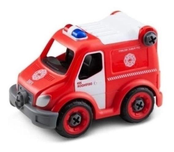 City Machine Caminhão De Bombeiros Resgate Multikids Br1086