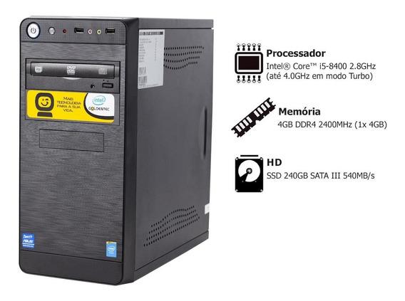 Pc Goldentec P-gcl Com Core I5 8400 2.8ghz 4gb Ssd 240gb