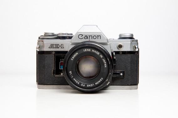Câmera Fotográfica Canon Ae-1 + 50mm F1.8