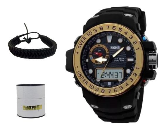 Relógio Masculino Skmei 1063 + Original Esportivo + Brinde