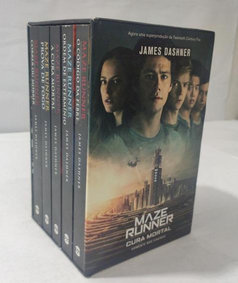 Box 5 Livros Maze Runner Coleção Completa + Poster