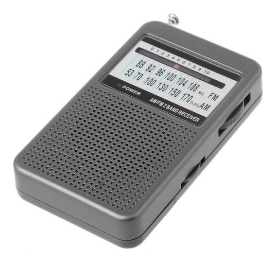 Rádio Receptor Kaimeda Sr-201 Am/fm Bolso Fácil Transporte