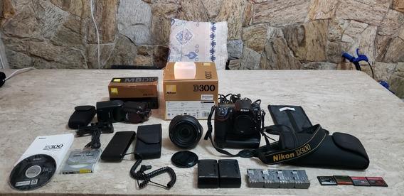 Máquina Fotográfica Nikon D300 + Lente Nikon 24-120 F/4g Vr